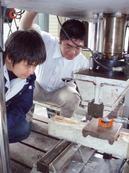 コンクリートの耐久性実験