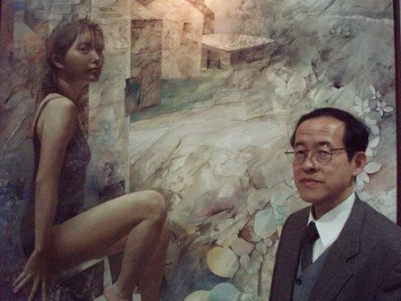 美術を楽しむシステムについて説明する永瀬教授