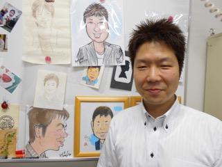 ご自身の似顔絵と渡邊先生